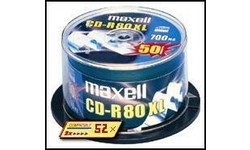 Maxell CD-R 52x 50pk Spindle