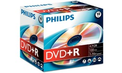 Philips DVD+R 16x 10pk Jewel case