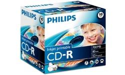 Philips CD-R 52x 10pk Printable Jewel case