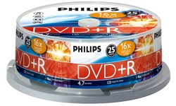Philips DVD+R 16x 25pk Spindle