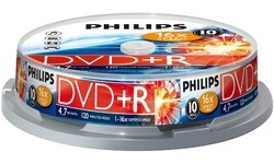 Philips DVD+R 16x 10pk Spindle