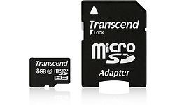 Transcend MicroSDHC 8GB + Adapter