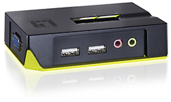 LevelOne 2-Port USB KVM Switch with Audio