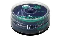 Platinum DVD+RW 4x 25pk Spindle