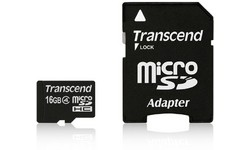 Transcend MicroSDHC Class 4 16GB + Adapter