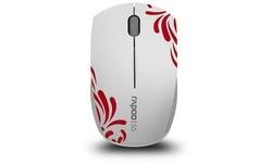 Rapoo Wireless Super Mini Mouse White/Red