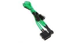 Bitfenix Molex To 3x3 Pin Fan Adapter 5V 20 cm Green