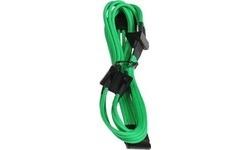 Bitfenix Molex To 4x SATAPower Extension 20 cm Green
