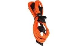 Bitfenix Molex To 4x SATAPower Extension 20 cm Orange