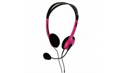 BasicXL Portable Stereo Headset Pink