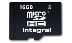 Integral MicroSDHC Class 4 16GB + Adapter