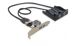 Delock 2-port USB 3.0 Front Panel + PCIe Card