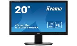 """Iiyama E2083HSD-B1/20""""WLCD LED DVI-D 5ms"""