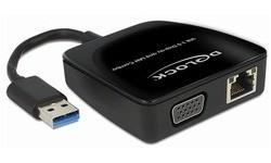 Delock USB 3.0 Gigabit Lan + VGA