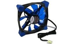Inter-Tech CobaNitrox Extended N-120-B Black/Blue LED