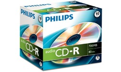 Philips CD-R 52x 10pk Jewel Case