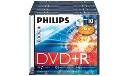 Philips DVD+R 16x 10pk Slim Case