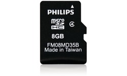 Philips MicroSD Class 4 8GB + Adapter