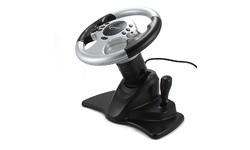 Gembird ShockForce Steering Wheel Black/Silver