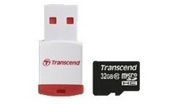 Transcend MicroSDHC Class 10 32GB + USB Adapter