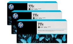 HP 771c Matt Black 3-pack