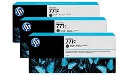 HP 771c Matt Black 3-pack