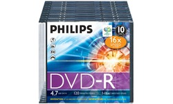 Philips DVD-R 16x 10pk Slim Case
