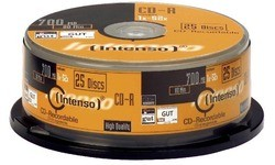 Intenso CD-R 700MB 52x 25pk Spindle