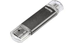 Hama FlashPen Laeta Twin 8GB Grey