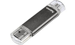 Hama FlashPen Laeta Twin 32GB Grey