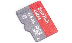 Sandisk Ultra MicroSDXC UHS-I 540x 64GB + Adapter Grey/Red (80MBps)