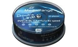 MediaRange DVD+R 8x 25pk Spindle