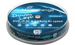MediaRange DVD+R 8x 10pk Spindle