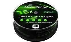 MediaRange DVD+R 16x 25pk Spindle