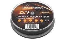 MediaRange DVD-RW 4x 10pk Spindle