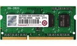 Transcend 2GB DDR3-1600 CL11 Sodimm
