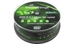 MediaRange DVD-R 16x 25pk Spindle