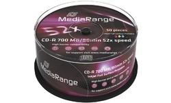 MediaRange CD-R 700MB 52x 50pk Spindle