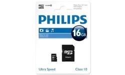 Philips MicroSDHC Class 10 16GB + Adapter