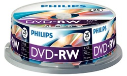 Philips DVD-RW 4x 25pk Spindle
