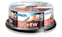Philips DVD+RW 4x 25pk Spindle