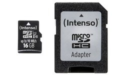Intenso Professional MicroSDHC UHS-I 16GB + Adapter