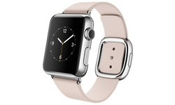 Apple Watch 38mm Stainless Steel Case, Soft Pink Modern Buckle, M