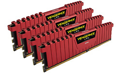 Corsair Vengeance LPX Red 32GB DDR4-3000 CL15 quad kit