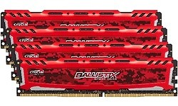 Crucial Ballistix Sport LT Red 32GB DDR4-2400 CL16 quad kit (BLS4C8G4D240FSE)
