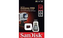 Sandisk Extreme Pro MicroSDXC UHS-II U3 128GB + USB Reader