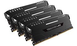 Corsair Vengeance LED Black White LED 32GB DDR4-2666 CL16 quad kit