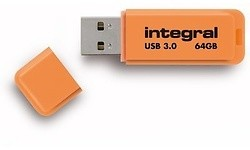 Integral Neon 64GB Orange (USB 3.0)