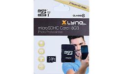 Xlyne MicroSDHC Class 10 8GB + Adapter