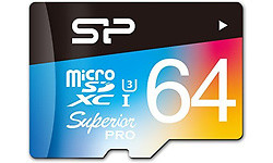 Silicon Power Superior Pro MicroSDXC UHS-I U3 64GB + Adapter